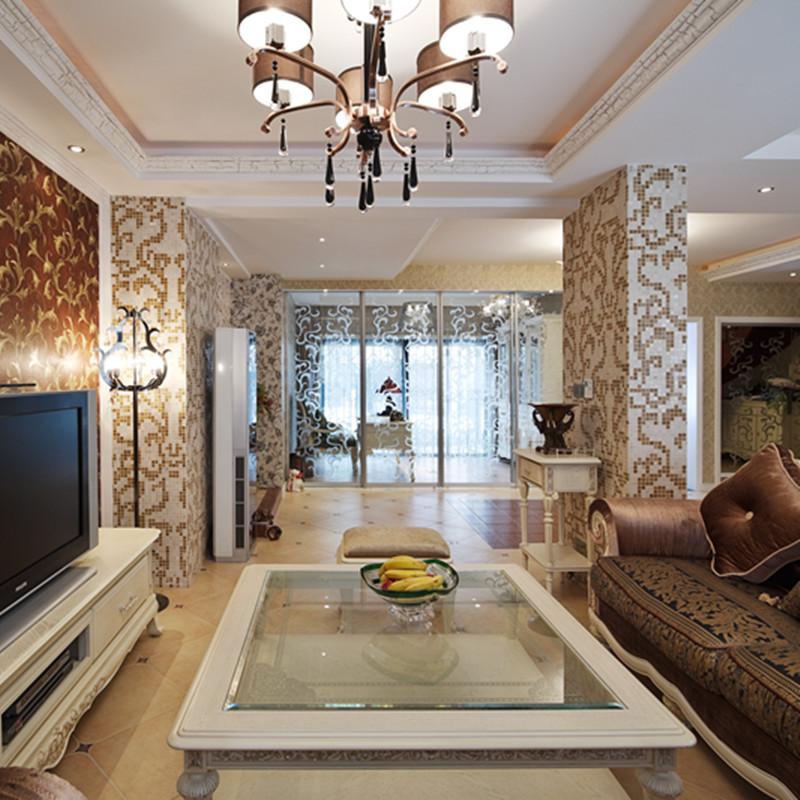 160平复式欧式风格装修客厅吊顶设计