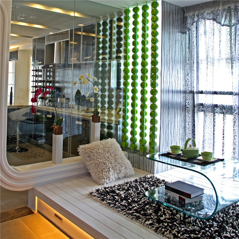 两居室现代风格家地台休闲区