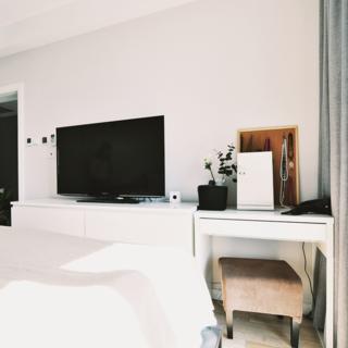 90平北欧风情两居装修电视柜图片