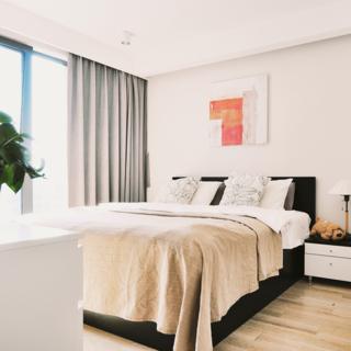 90平北欧风情两居装修卧室设计图
