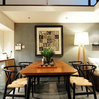 一居室小户型Loft装修餐厅背景墙图片