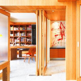 简约复式装修书房设计图