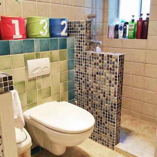 小户型地中海风格公寓装修卫生间布局图