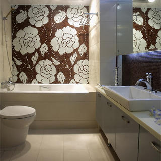 现代简约三居装修卫生间布局图