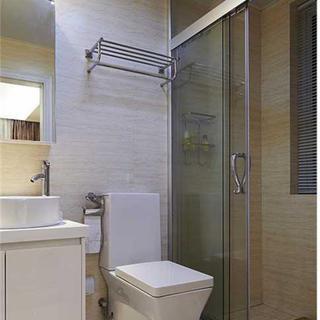 175平三居室装修卫生间布局图