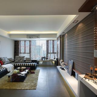 125㎡现代简约三居客厅装修效果图