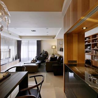 100平现代风格两居客厅吊顶
