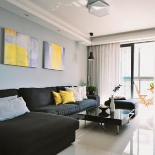 90平北欧风情两居装修客厅搭配图