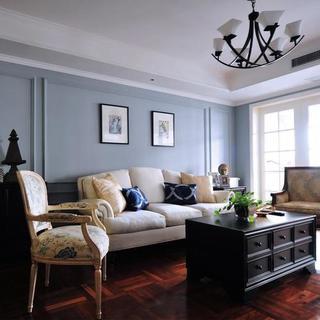 两居室美式风格家客厅设计图