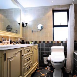 两居室美式风格家卫生间设计图