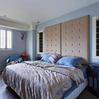 120平田园风格两居室装修卧室设计图