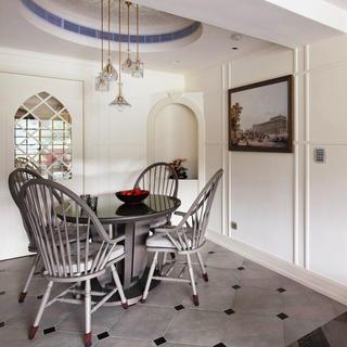 120平田园风格两居室装修餐厅设计图