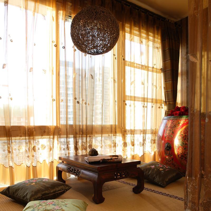 140平东南亚三居装修茶台设计