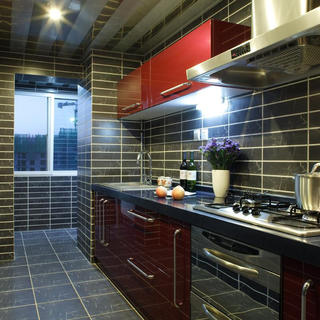140平东南亚三居装修厨房设计图