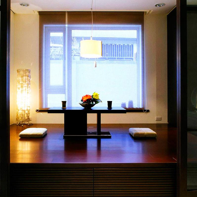 现代风格别墅装修榻榻米茶台设计
