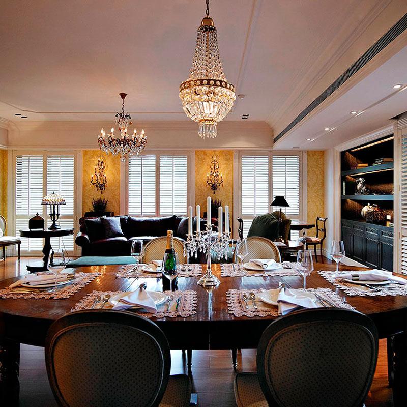 欧式风格装修客餐厅效果图