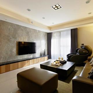 100平现代风格两居电视背景墙图片