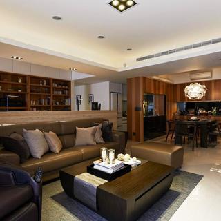 100平现代风格两居沙发图片