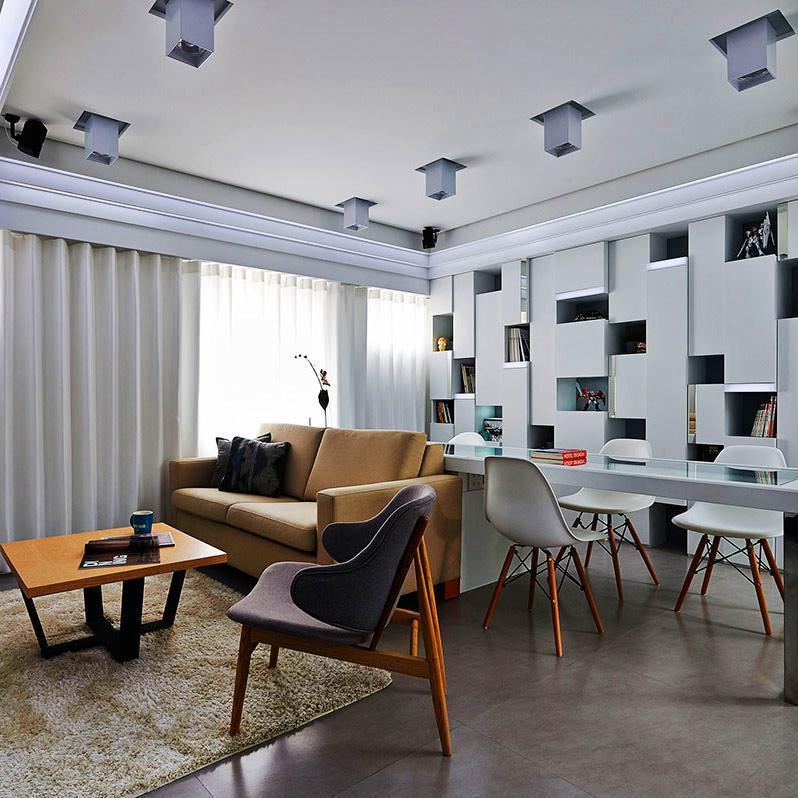 60平小户型一居室装修客厅设计图