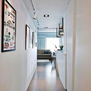 60平小户型一居室装修走廊图片