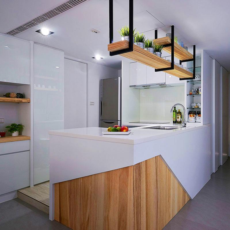 60平小户型一居室装修厨房操作台设计