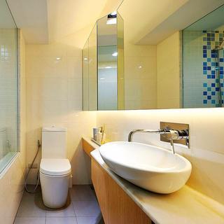 60平小户型一居室装修卫生间搭配图