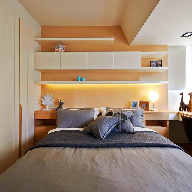 60平小户型一居室装修床头墙设计
