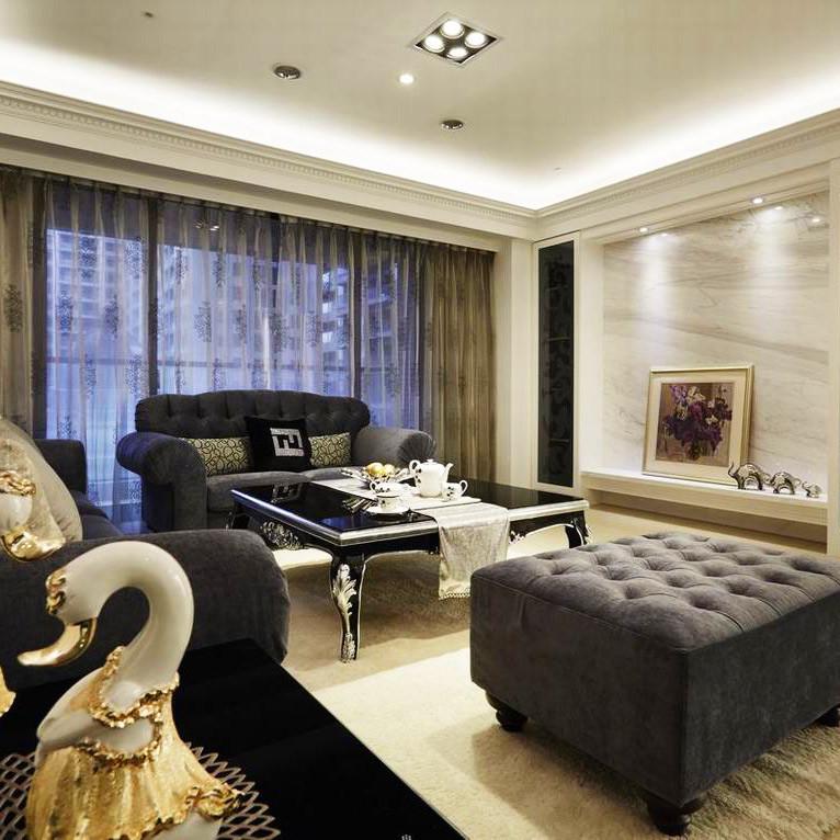 现代古典装修客厅效果图