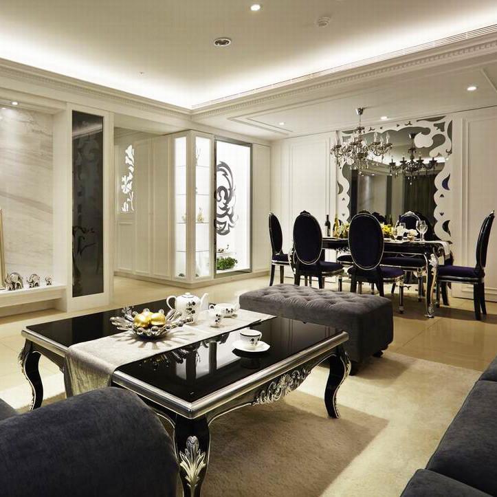 现代古典装修客餐厅搭配图