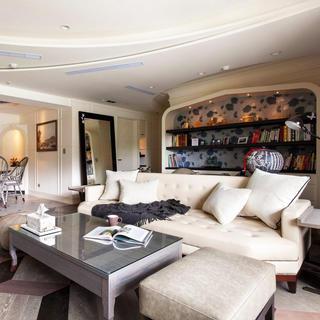 120平田园风格两居室装修客厅布置图