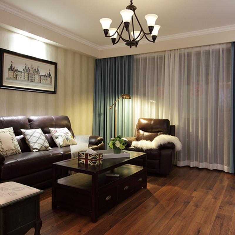美式两居客厅装修效果图