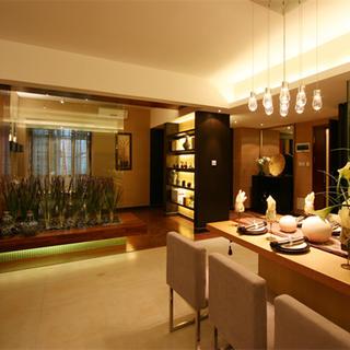 140平东南亚风格家餐厅设计图