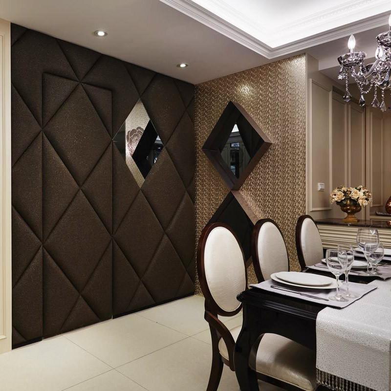 现代雅致风格装修餐厅背景墙图片