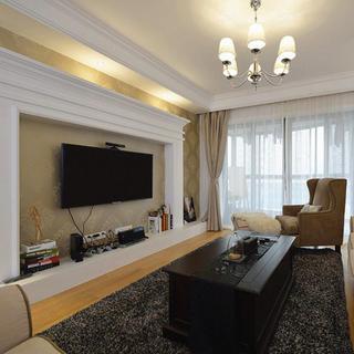 140平美式两居室装修电视背景墙设计