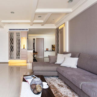 现代简约四房设计 和谐大方
