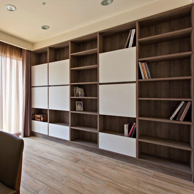 现代简约四房设计书架图片