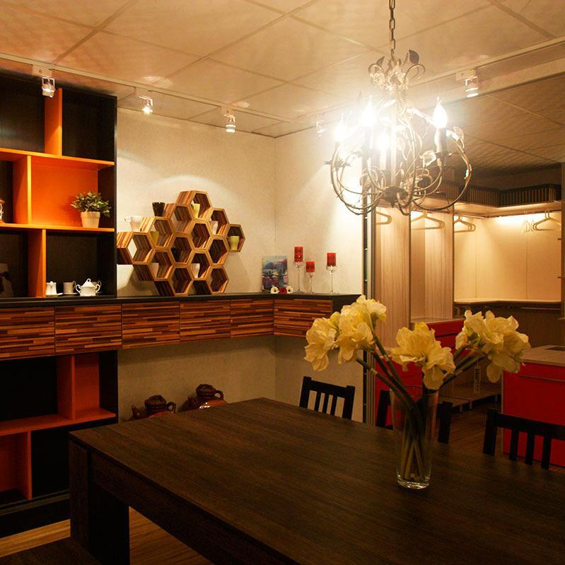 140平混搭风格装修餐边柜图片