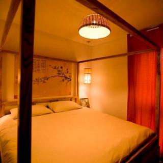 65平中式风格家床头背景墙图片