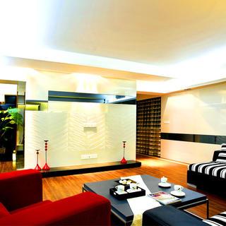 现代简约两居装修电视背景墙设计