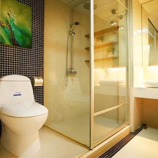 现代简约两居装修卫生间搭配图