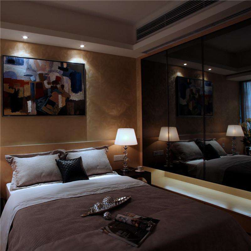 140㎡现代风格装修卧室效果图