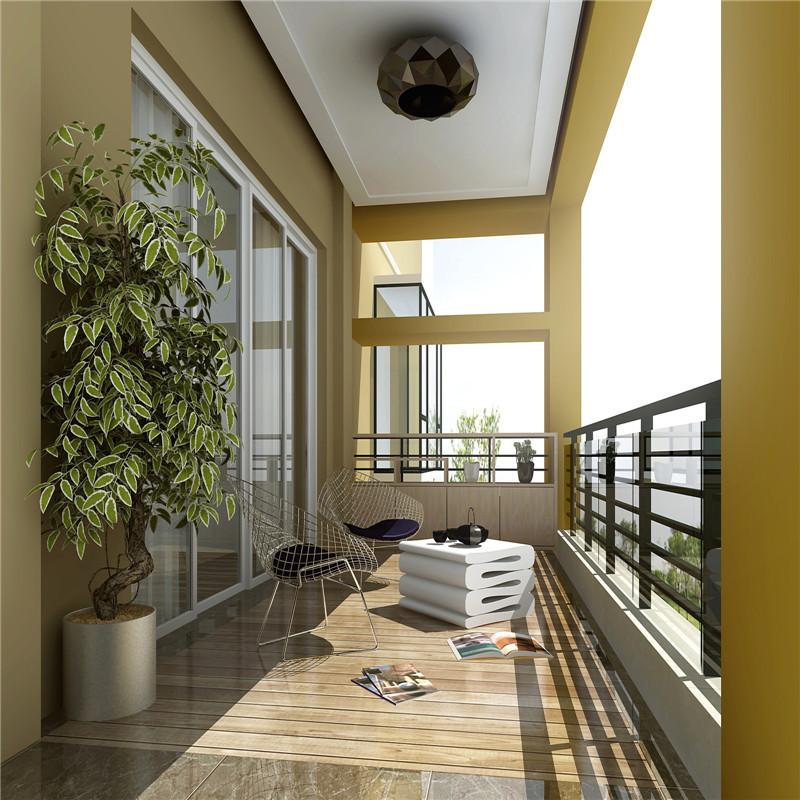 现代风格四房阳台装修效果图