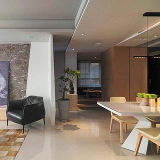 后现代四房装修客餐厅过道