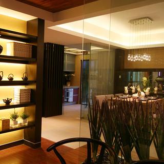 140平东南亚风格家玻璃隔断