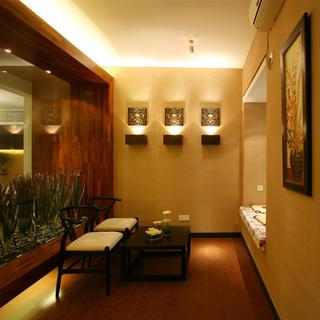 140平东南亚风格家茶室布置图