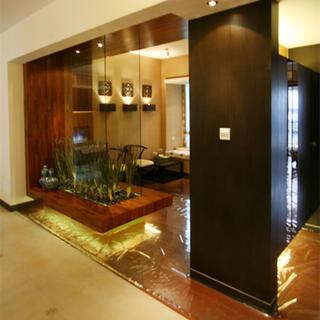 140平东南亚风格家过道设计