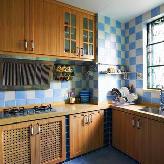地中海三居之家厨房设计图