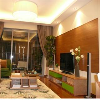 80平简约两居室装修电视背景墙设计