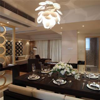 140㎡现代风格装修餐厅设计图