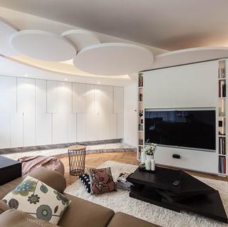 130平简约圆形空间装修设计图